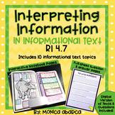 RI.4.7/ RI 4.7 Interpreting Information in Informational Text