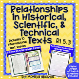 RI5.3/ RI 5.3 - Relationships in Historical, Scientific & Technical Text