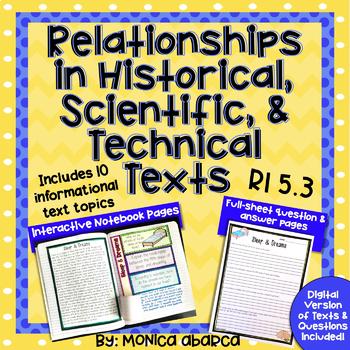 RI5.3/ RI 5.3 - Relationships in Historical, Scientific & Technical Text