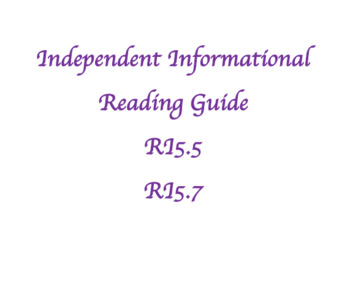 RI5.5 and RI 5.7 - Informational Text Reading Guide