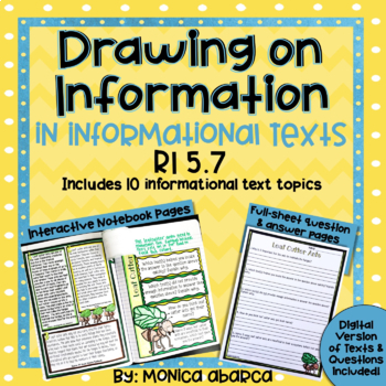 RI5.7/ RI 5.7 Drawing Information from Multiple Texts | Distance Learning