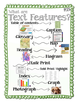 Ri5 Text Features Anchor Chart By Thing One And Grade Two Tpt