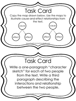 RI.5.3 Fifth Grade Common Core Worksheets, Activity, and Poster