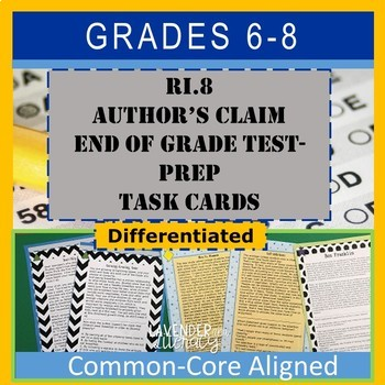 RI6.8 Author's Claim Test-Prep Task Cards