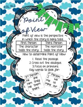 RI6 RL6 Point of View Anchor Chart- 3rd Grade