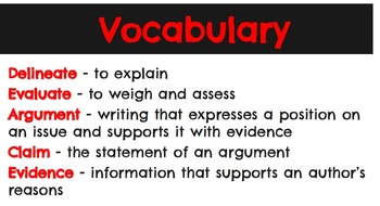 RI.7.8 & RI.8.8. - Evaluate Author's Argument/Claims in a Text & the Evidence