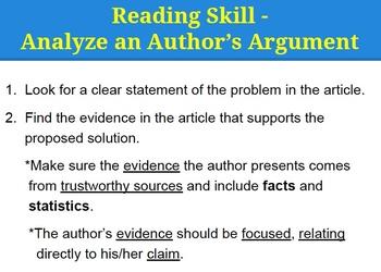 Ri 7 8 Amp Ri 8 8 Evaluate Author S Argument Claims In A