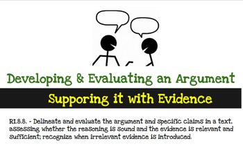 RI.8.8. - Developing and Evaluating an Author's Argument, Claims, and Evidence