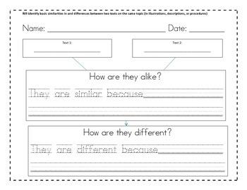 RI9 First Grade Informational Reading Graphic Organizer