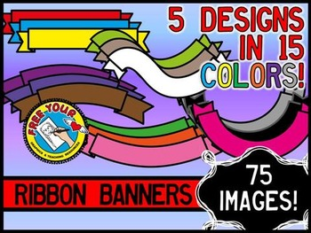 CLIPART RIBBONS: COLORFUL RIBBON BANNERS CLIPART: SELLER'S