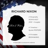 RICHARD NIXON Signature Silhouette Posters