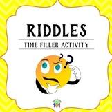 RIDDLES - ESL TIME FILLER ACTIVITY!