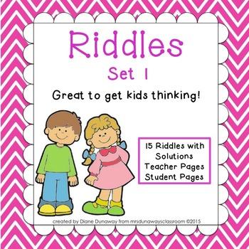 RIDDLES: Set 1