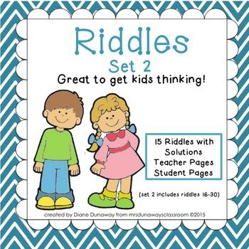 RIDDLES: Set 2