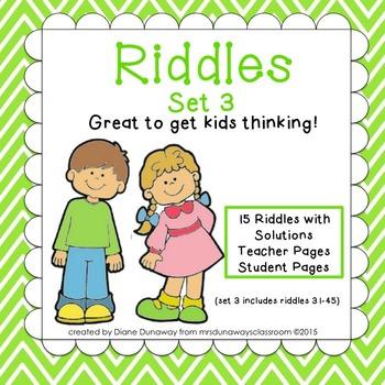 RIDDLES: Set 3