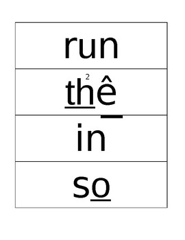 RIGGS List One Flash Cards