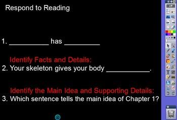 RIGOR Reading Invervention Level 1-Unit 7- Your Skeleton flip chart