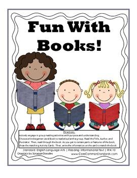 RI.K.10 Kindergarten Common Core Worksheets, Activity, and Poster