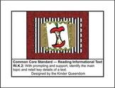 RI.K.2 Reading Informational Text Assessments