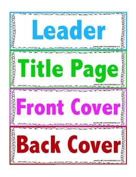 RI.K.5 Kindergarten Common Core Worksheets, Activity, and Poster