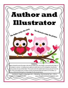 RI.K.6 Kindergarten Common Core Worksheets, Activity, and Poster