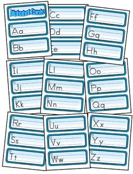 RING-IT WRITE-IT ALPHABET CARDS