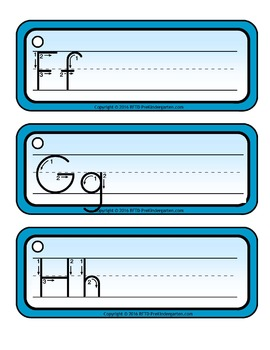 RING-IT WRITE-IT ALPHABET CARDS