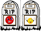 RIP Antonym Headstone Flashcards (Words and Pictures)