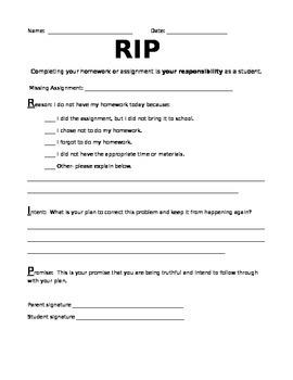 RIP Missing Homework Sheet
