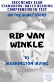 Rip Van Winkle Quiz And Key