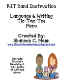 RIT Band Instruction: Differentiation Menu for Language & Writing (180 +)