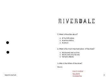 RIVERDALE worksheet basic pilot 1x01