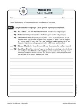 RIVERS—Geography Worksheets and Activities