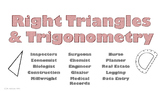Right Triangles and Trigonometry Careers Poster
