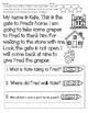 RL.1.1 No Prep Comprehension Stories- Blends, Digraphs & F
