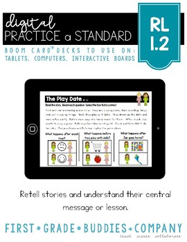 RL 1.2 | Boom Cards | Retell Stories | Lesson | Central Message