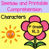 RL.1.3 1st Grade Characters and Traits Seesaw and Printable Comprehension