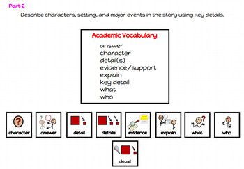 RL.1.3-3.3 Academic Visuals (Character, Setting, Events, Details) SET #2