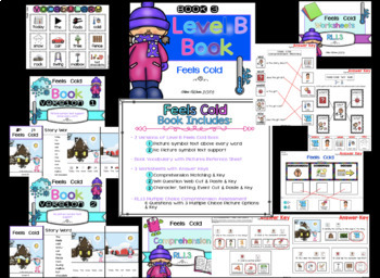 RL.1.3 Adapted Identify Characters, Setting, Events Book Unit (Autism /SPED/ELL)