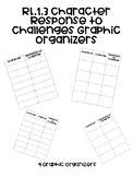 RL 1.3 Graphic Organizers- Characters Response to Challenges