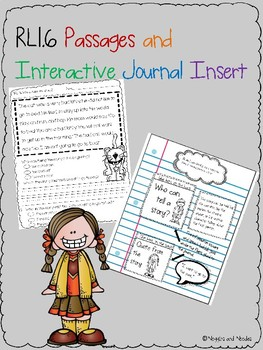 RL.1.6 Reading Passages and Interactive Journal Insert