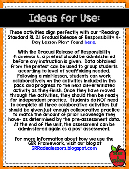 RL2.1 Asking & Answering Questions Gradual Release Activities & Assessment Pack