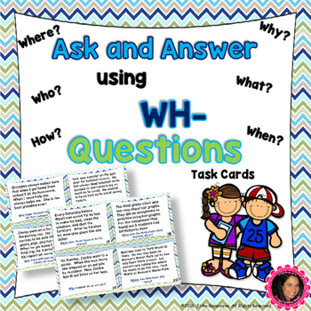 RL 2.1 Task Cards- Asking and Answering Questions