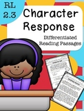 RL 2.3 Character Response - Differentiated Reading Passages
