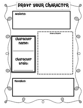 RL 2.3: Character Traits Organizer