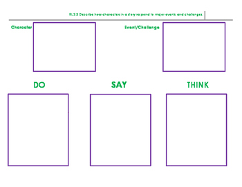 RL.2.3 Graphic Organizer