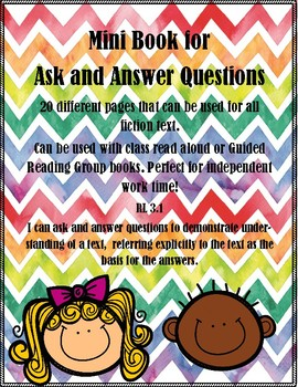 RL.3.1 Ask and Answer Questions Mini Book PERFECT for Independent Work!