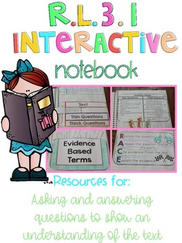 RL.3.1 Interactive Notebook for Asking and Answering Questions