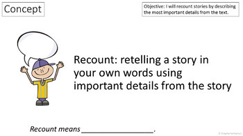 RL 3.2 PowerPoint: Recounting Stories