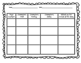 RL 3.3 Character (Feelings, Trait, Action) Graphic Organizer
